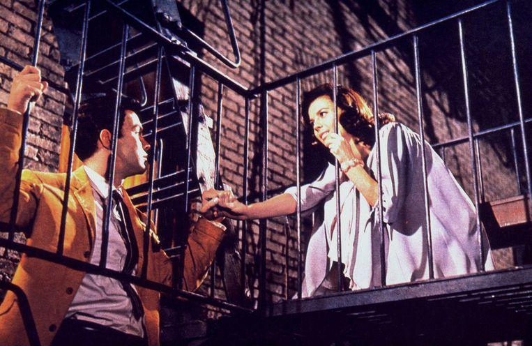 Richard Beymer en Natalie Wood in West Side Story. Beeld ANP