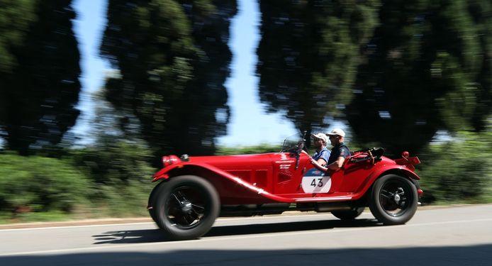 Een uit 1929 daterende Alfa Romeo 6C 1750 Gran Sport Zagato.
