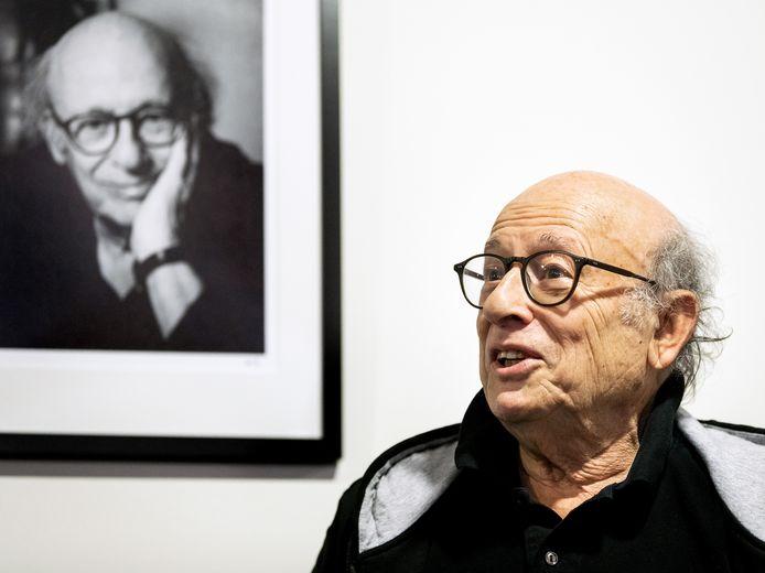 Filmregisseur Frans Weisz tijdens de onthulling van de wall of fame in in de Nederlandse Filmacademie in Amsterdam.