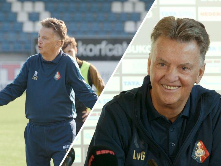 Louis van Gaal schittert bij training Telstar