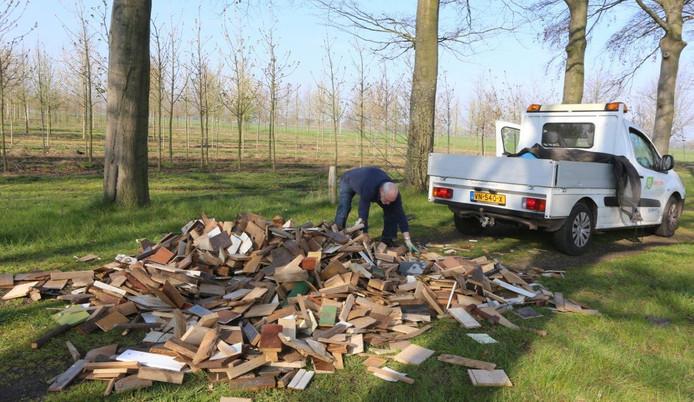 Er waren verschillende dumpingen van plankjes in de regio.