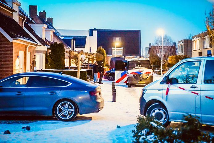 Politie op de been in Veldhoven.