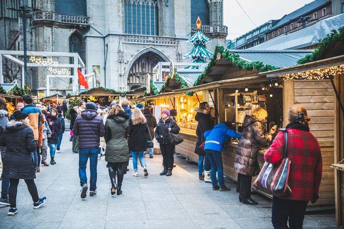 De kerstmarkt in Gent.