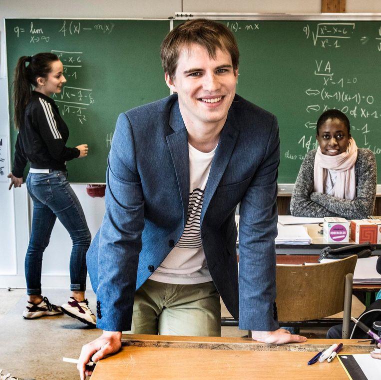 Filip Moons van de vereniging voor wiskundeleraren. 'Als burger wordt het namelijk steeds belangrijker dat je de groeiende stroom aan data kritisch leert te benaderen.' Beeld rv