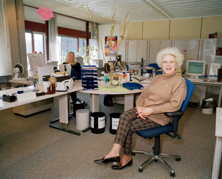 Werknemers van het ministerie van Financiën,in 2004 Beeld Jan Dirk van der Burg