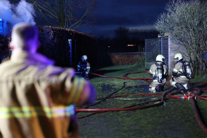 Brand in schuur in Schijndel.