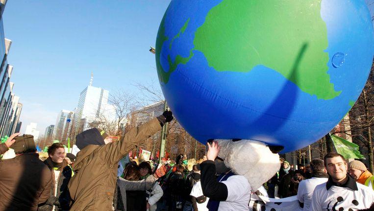 Archiefbeeld van klimaatbetoging in Brussel in 2010. Beeld BELGA