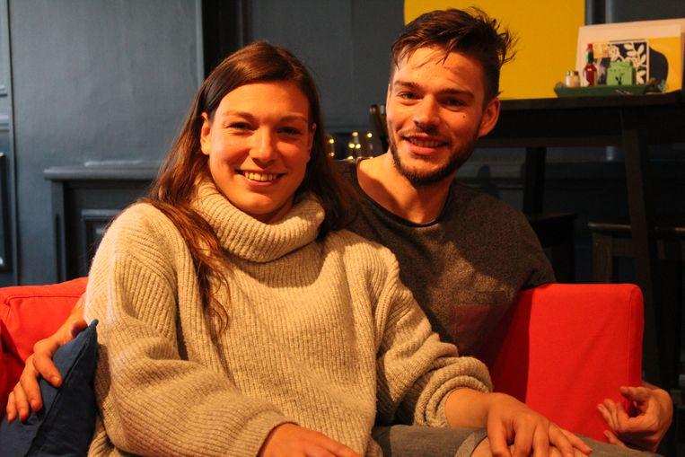 Eva Depuydt en Yoren De Prètre van Fou d'Art, de nieuwe betaalbare hotspot op het Sint-Pietersplein.