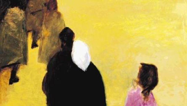 ¿Les Expulsés¿, olieverf op linnen, 1999. (\N) Beeld