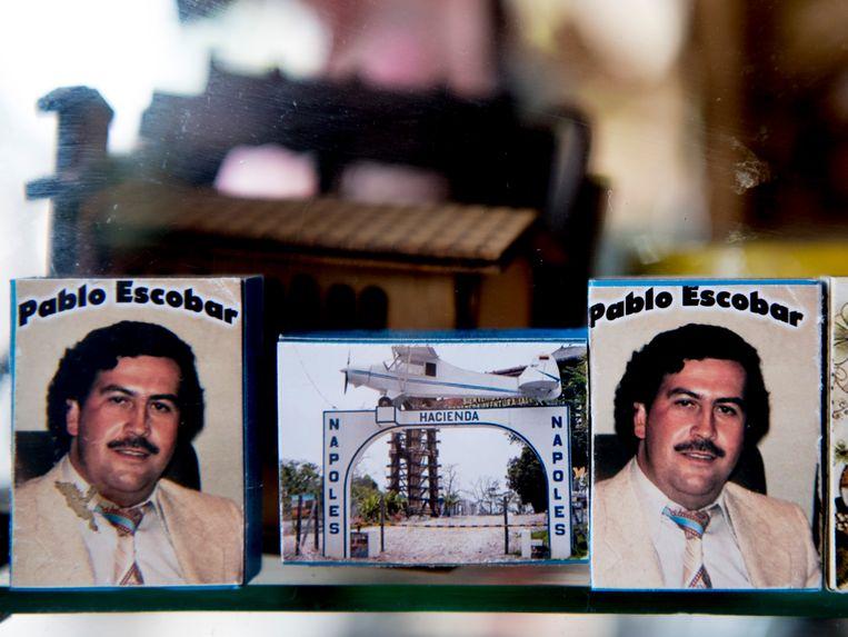 Hacienda Napoles is nu een museum en themapark waar veel souvenirs met afbeeldingen van Pablo Escobar te koop zijn. Beeld