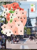Prognose bevolkingsgroei per gemeente (2018-2035)