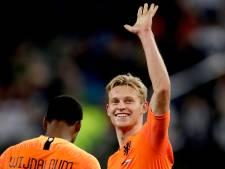 Frenkie de Jong scoort voor het eerst in Oranje: 'Zat er al even op te wachten'