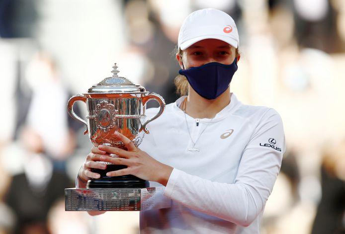 Iga Swiatek, winnares van Roland Garros.