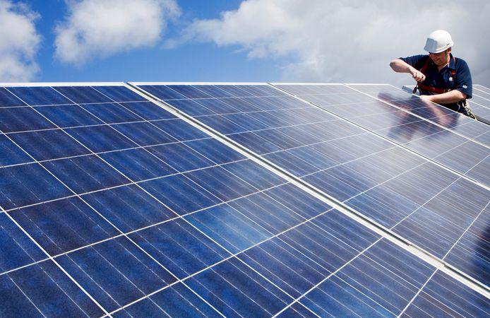 Op de daken komen onder meer zonnepanelen.