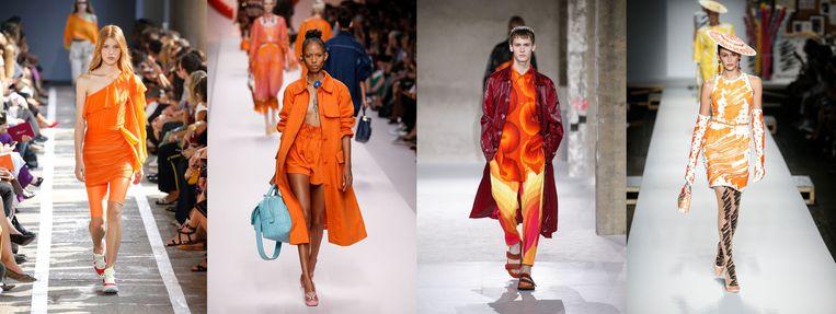 Oranje op de catwalk Beeld null