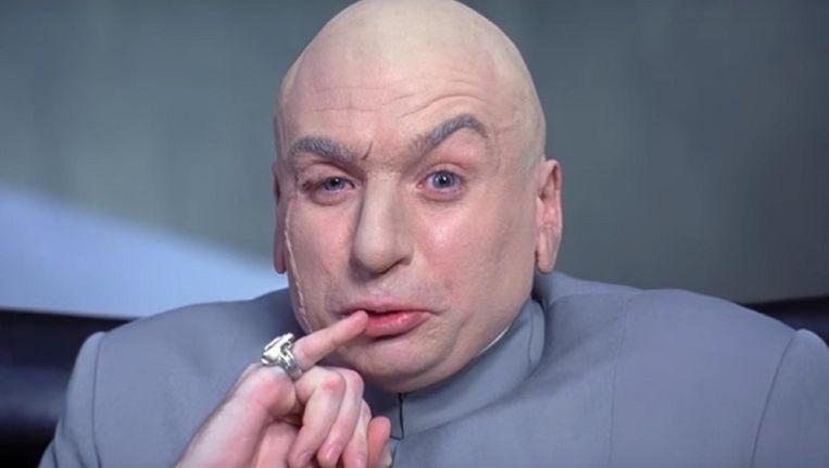 Dr. Evil is vanavond te zien op SBS 9 in Austin Powers in Goldmember. Beeld