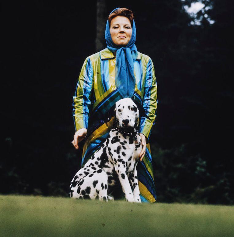 2019-04-25 13:03:08 Benelux Press kast 1; lade 1; Beatrix met Dalmatier (hond) Beeld Nationaal Fotopersbureau