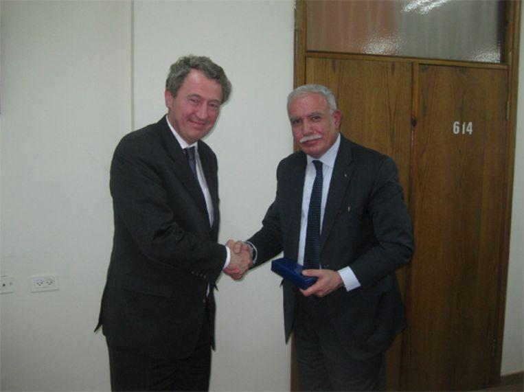 Henk Jan Ormel ontmoet dr. Riad al Malki, minister van Buitenlandse Zaken Palestijnse Autoriteit Beeld