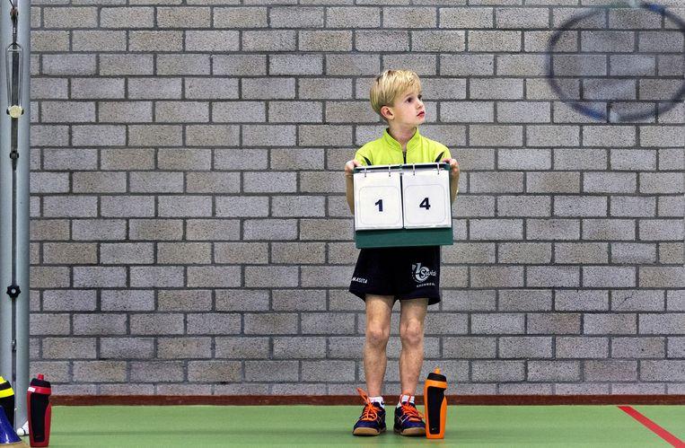 Badminton HBV Open Jeugd Toernooi U8, Hoorn. Beeld Klaas Jan van der Weij