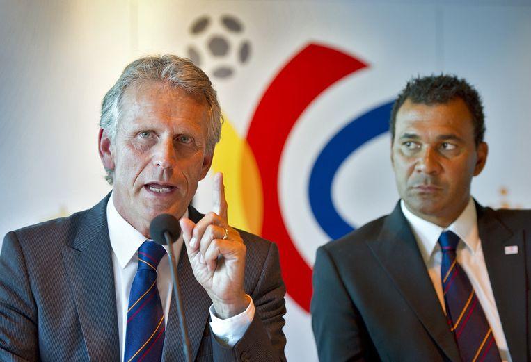 De boegbeelden van het Nederlandse WK-bid, Harry Been (links) en Ruud Gullit. © ANP Beeld