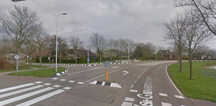 De kruising tussen de 's-Gravendeelseweg en Patrijs in Maasdam