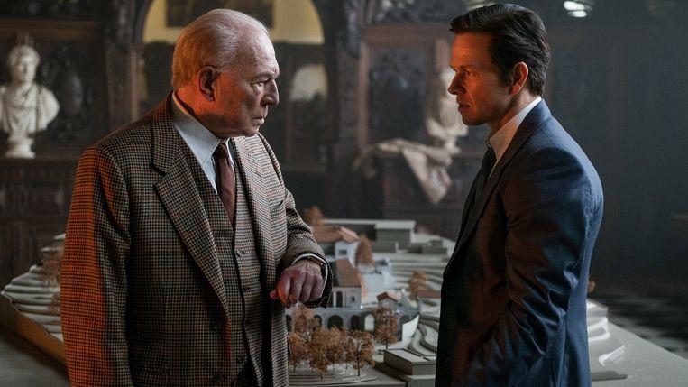 Christopher Plummer en Mark Wahlberg in All the Money in the World van Ridley Scott. Beeld