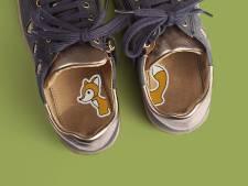 Karen en Ad ontwierpen stickers zodat kinderen hun schoenen correct aantrekken