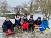 Sneeuwpret! Ruben, Julian, Anna, Benjamin, Raphael en Bo-Yi houden een 'vergelijkend sleeënonderzoek'