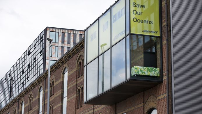 Het kantoor van Greenpeace in Amsterdam.