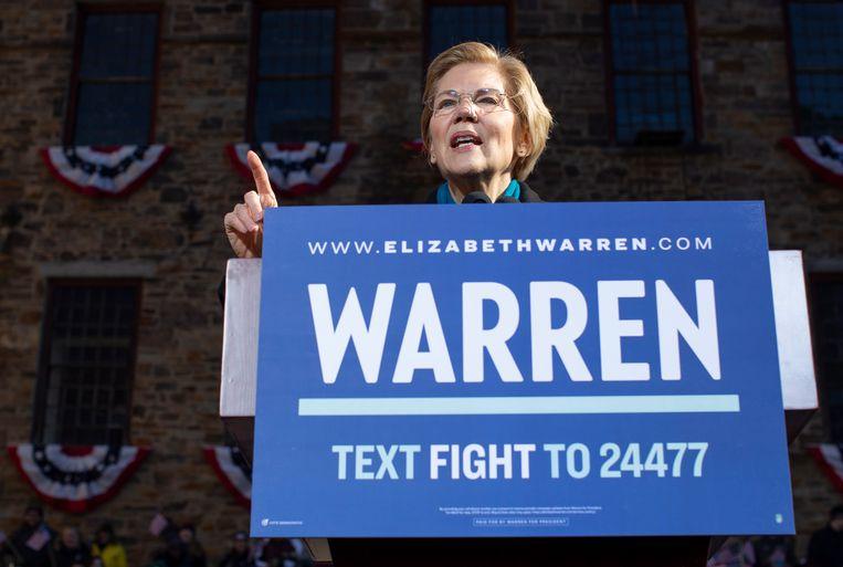 Amerikaans senator Elizabeth Warren of Massachusetts