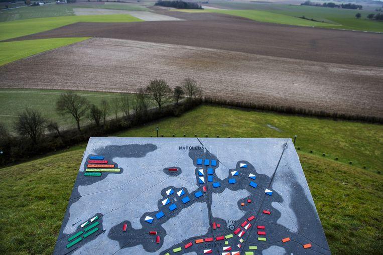 Zicht van op de Heuvel met de Leeuw van Waterloo. Beeld BELGA