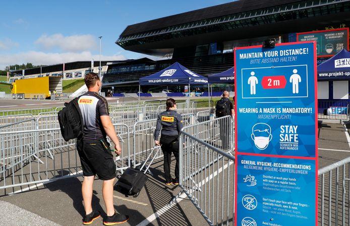Coronamaatregelen op de Red Bull Ring.