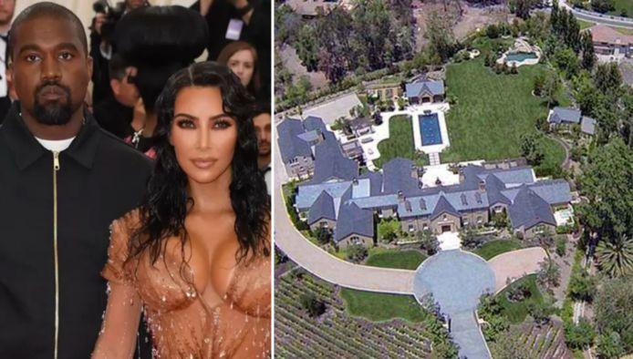 Kim en Kanye vechten om hun villa.
