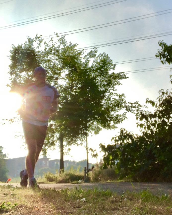 Marco de Gier uit Amersfoort loopt 's ochtends graag hard