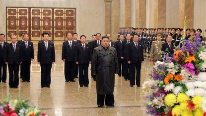 Noord-Koreaanse leider Kim Jong-un herdenkt overleden vader