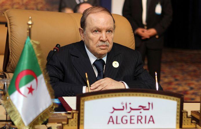 Archiefbeeld. De Algerijnse oud-president Abdelaziz Bouteflika in Doha. (15/11/2011)