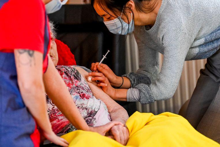 België is wel al begonnen met vaccineren.  Beeld BELGA