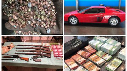 Honderden kilo's goud gevonden bij metaalbedrijf Nederlands Limburg, wapens en peperdure auto's in beslag genomen