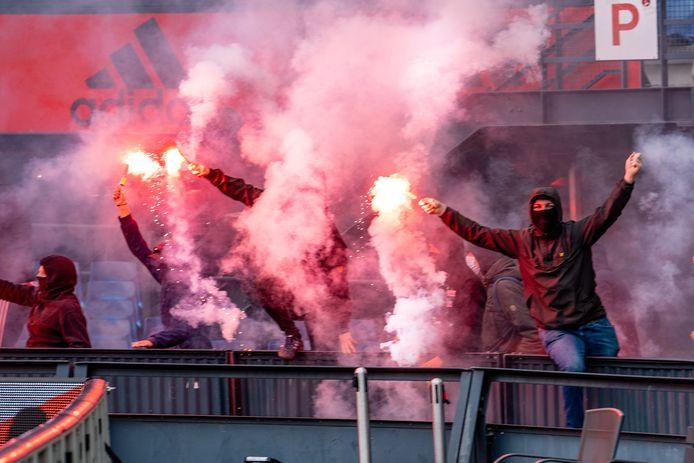 Feyenoord-fans in het stadion.