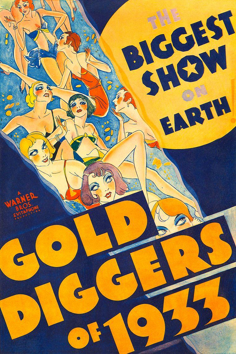 Filmposter van Gold Diggers uit 1933.  Beeld