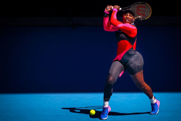Serena op de voorbije Australian Open, waar ze er in de halve finale uitging tegen latere winnares Naomi Osaka. Beeld BELGA