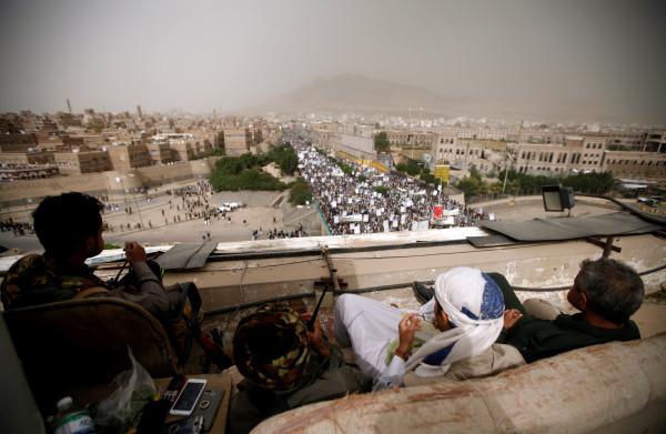 **Overal in Jemenitisch rebellengebied: 'Dood aan Amerika, dood aan Israël, vervloek de Joden'**