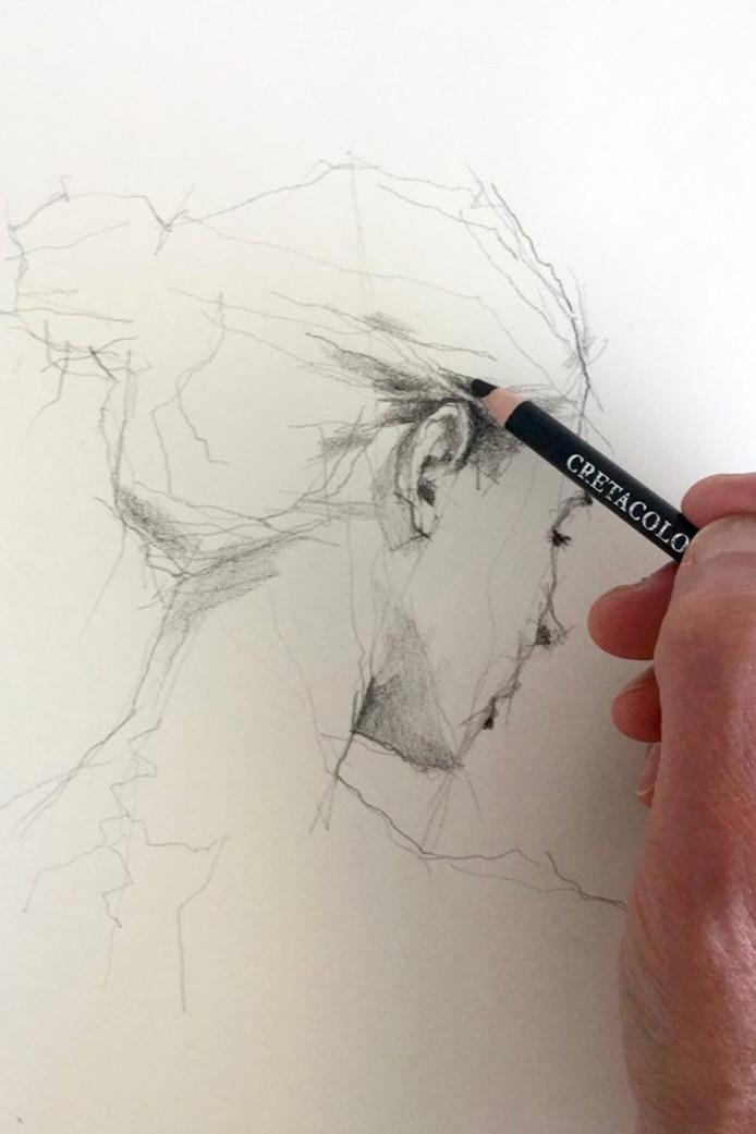 Een tekening van Leo van der Meer.