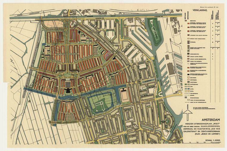 Uitbreidingsplan Bos en Lommer, 1935 Beeld Stadsherstel Amsterdam
