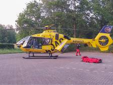Man ernstig gewond bij val fiets in Budel, Duitse traumaheli opgeroepen