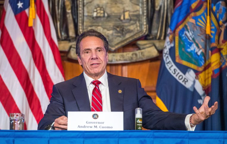 Andrew Cuomo, de gouverneur van New York. Beeld AP