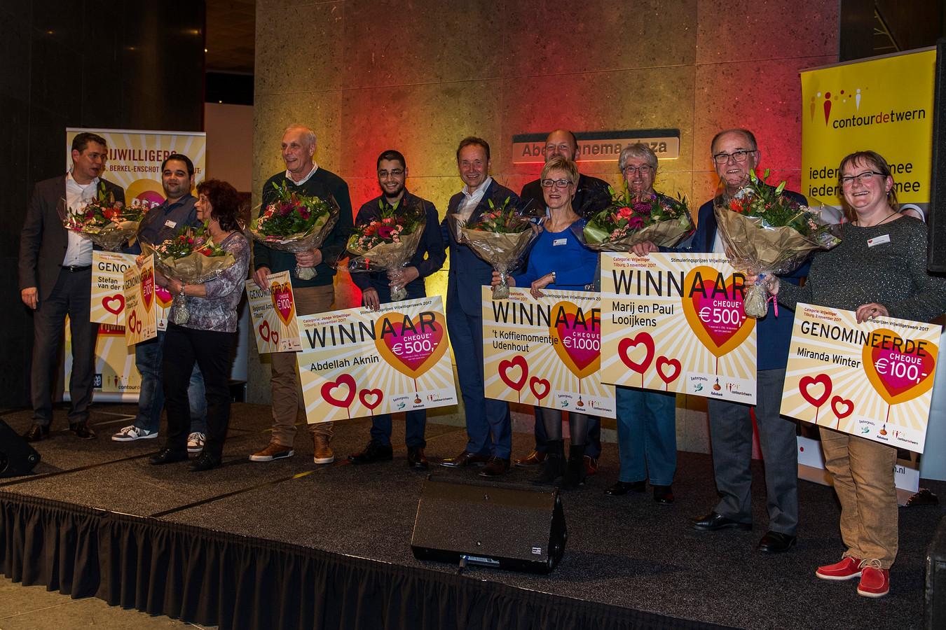 Tilburg, Interpolis, vrijwilligersprijs 2017 uitreiking.