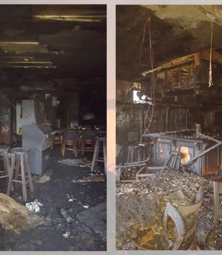 Foto's tonen desastreuze verwoesting café in Haaksbergen