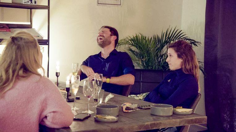 Dave & Hanne in 'Blind Getrouwd' Beeld VTM