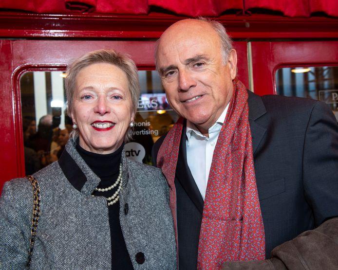 Herbert Flack met echtgenote Fabienne. De acteur speelde jarenlang samen met Francesca Vanthielen is Aspe.